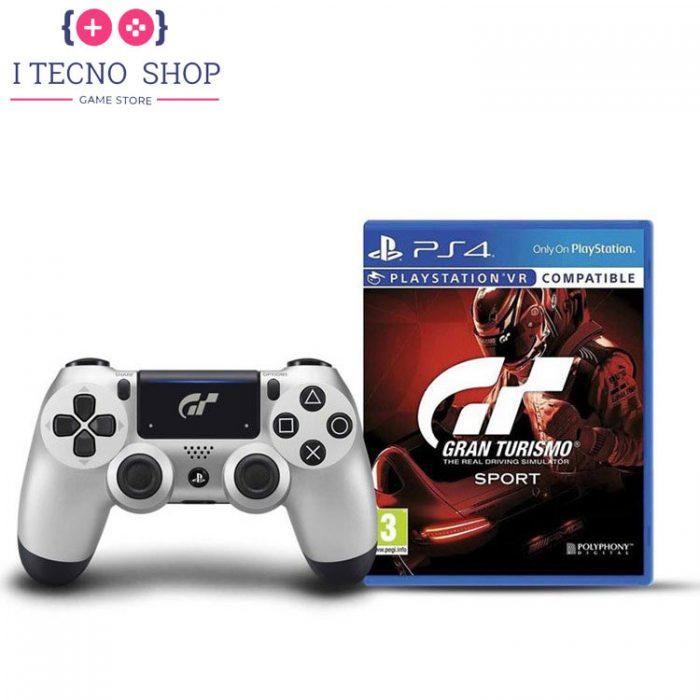 خرید DualShock 4(دسته بازی ps4) طرح بازی Gran Turismo Sport به همراه یک نسخه از بازی