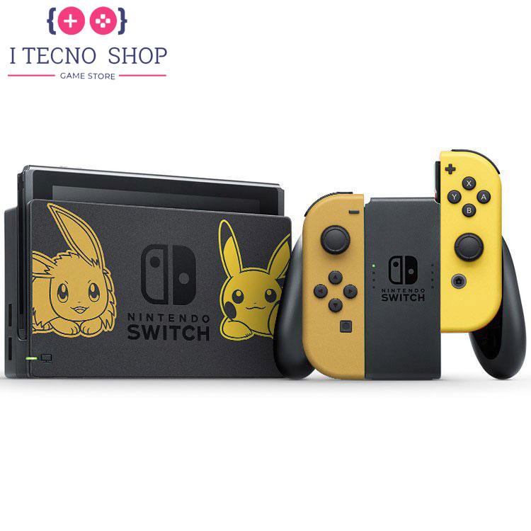 Nintendo Switch Pikachu Eevee Edition with Pokemon Let's Go Pikachu! Poke Ball Plus 4 itecnoshop