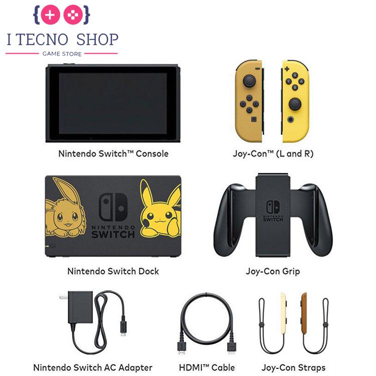 Nintendo Switch Pikachu Eevee Edition with Pokemon Let's Go Pikachu! Poke Ball Plus 7 itecnoshop