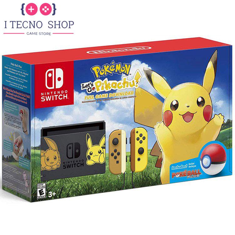 Nintendo Switch Pikachu Eevee Edition with Pokemon Let's Go Pikachu! Poke Ball Plus itecnoshop