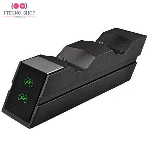 خرید پایه شارژر دوگانه دوال شاک 4 مدل X7E1 - سیاه