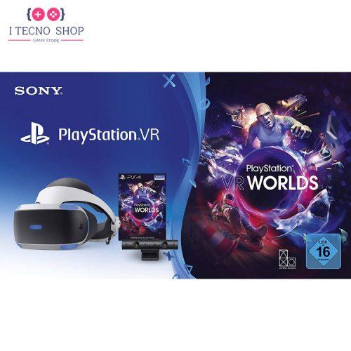 خرید پلی استیشن وی آر به همراه دوربین و کد بازی PSVR Worlds - سری جدید