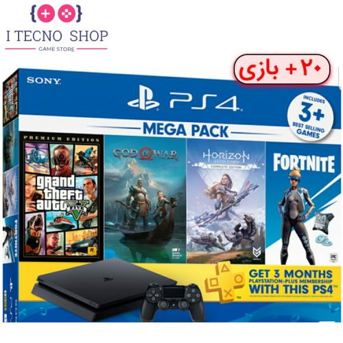 Playstation 4 Slim 1TB Mega Pack Bundle with 20Games R1 CUH-2215B
