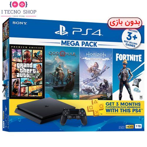 Playstation 4 Slim 1TB Mega Pack Bundle without Game R1 CUH 2215B