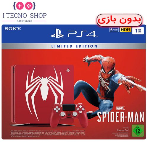 Playstation 4 Slim 1TB Spider Man Limited Edition without Game R2 CUH 2216B