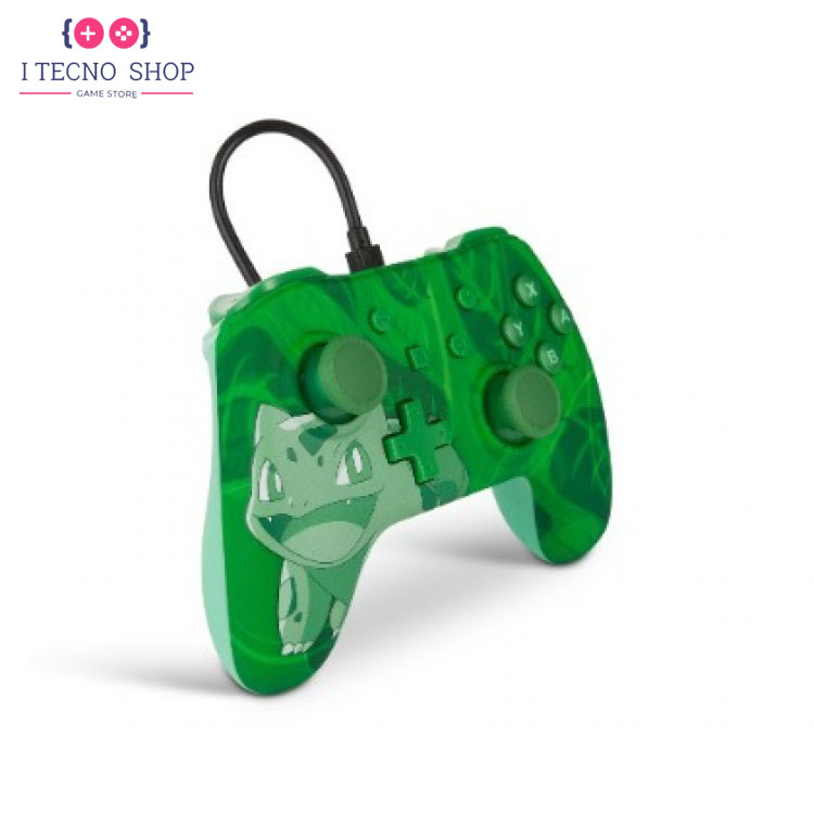 خرید کنترلر سیمی نینتندو سوییچ - طرح Green Bulbasaur 2