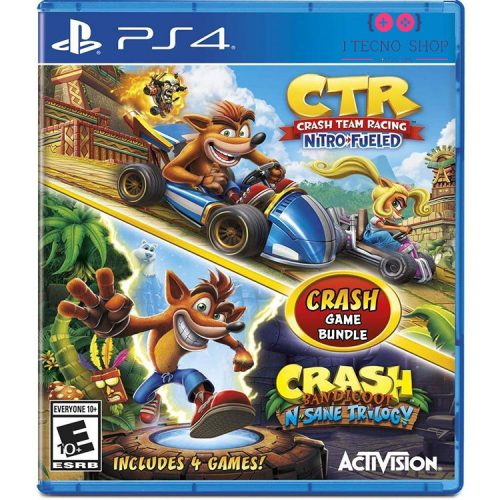 خرید بازی Crash Team Racing Nitro-Fueled و بازی Crash Bandicoot N.Sane Trilogy برای PS4
