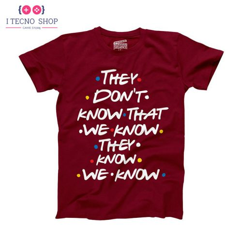خرید تیشرت Friends - قرمز رنگ