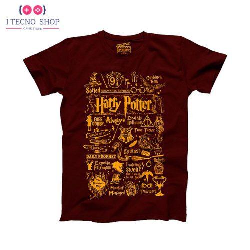 خرید تیشرت Harry Potter - نوشته زرد رنگ