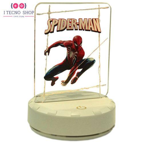 خرید لامپ رومیزی گیمینگ با طرح بازی مرد عنکبوتی