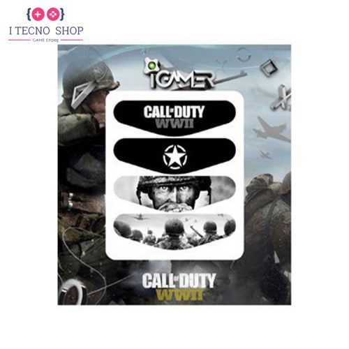 خرید برچسب لایت بار کنترلر PS4- طرح بازی Call of Duty: WWII