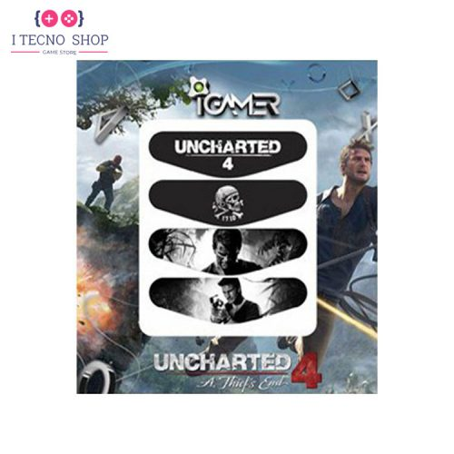 خرید برچسب لایت بار کنترلر PS4- طرح بازی Uncharted 4