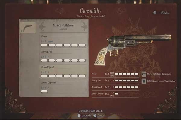 اسلحه M1851 Wolfsbane Revolver n در رزیدنت اویل 8