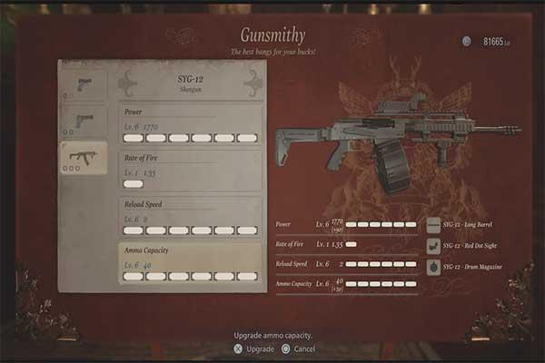 تفنگ ساچمه ای SYG-12 در رزیدنت اویل 8