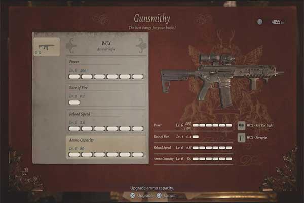 اسلحه WCX در بازی رزیدنت اویل 8