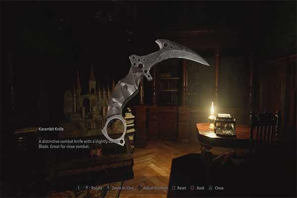 Karambit چاقو در بازی رزیدنت اویل 8