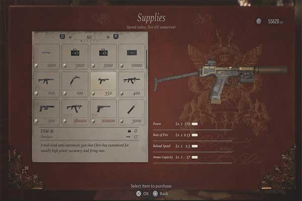 اسلحه USM-AI رزیدنت اویل 8