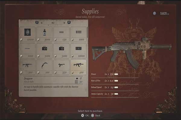 اسلحه Dragoon در بازی رزیدنت اویل 8