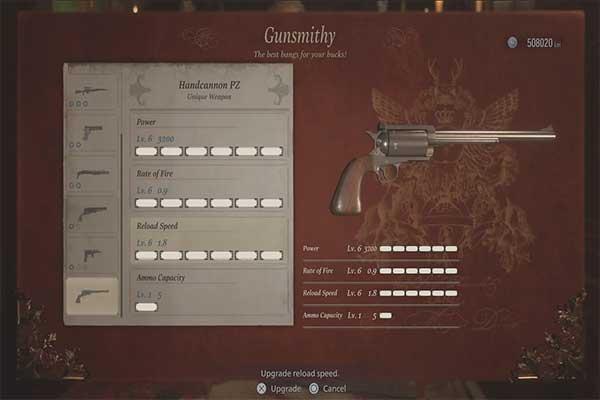 اسلحه Handcannon PZ در رزیدنت اویل 8