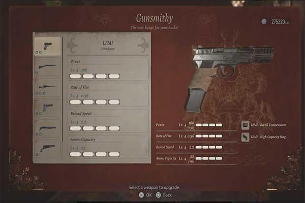 اسلحه دستی LEMI در رزیدنت اویل 8