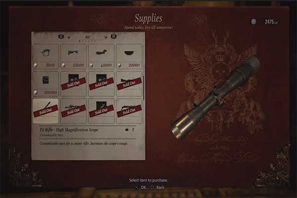 رزیدنت اویل 8 F2 Rifle - High Magnification Scope