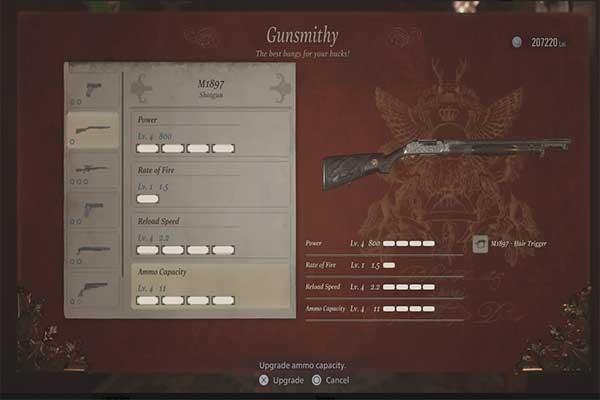 تفنگ ساچمه ای M1897 در رزیدنت اویل 8