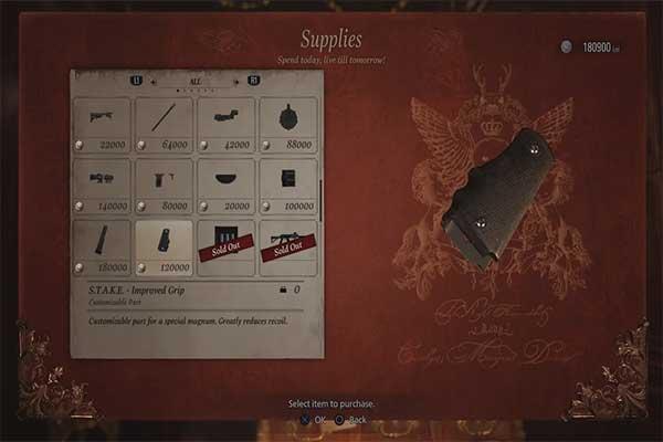 S.T.A.K.E. - Improved Grip در بازی رزیدنت اویل 8